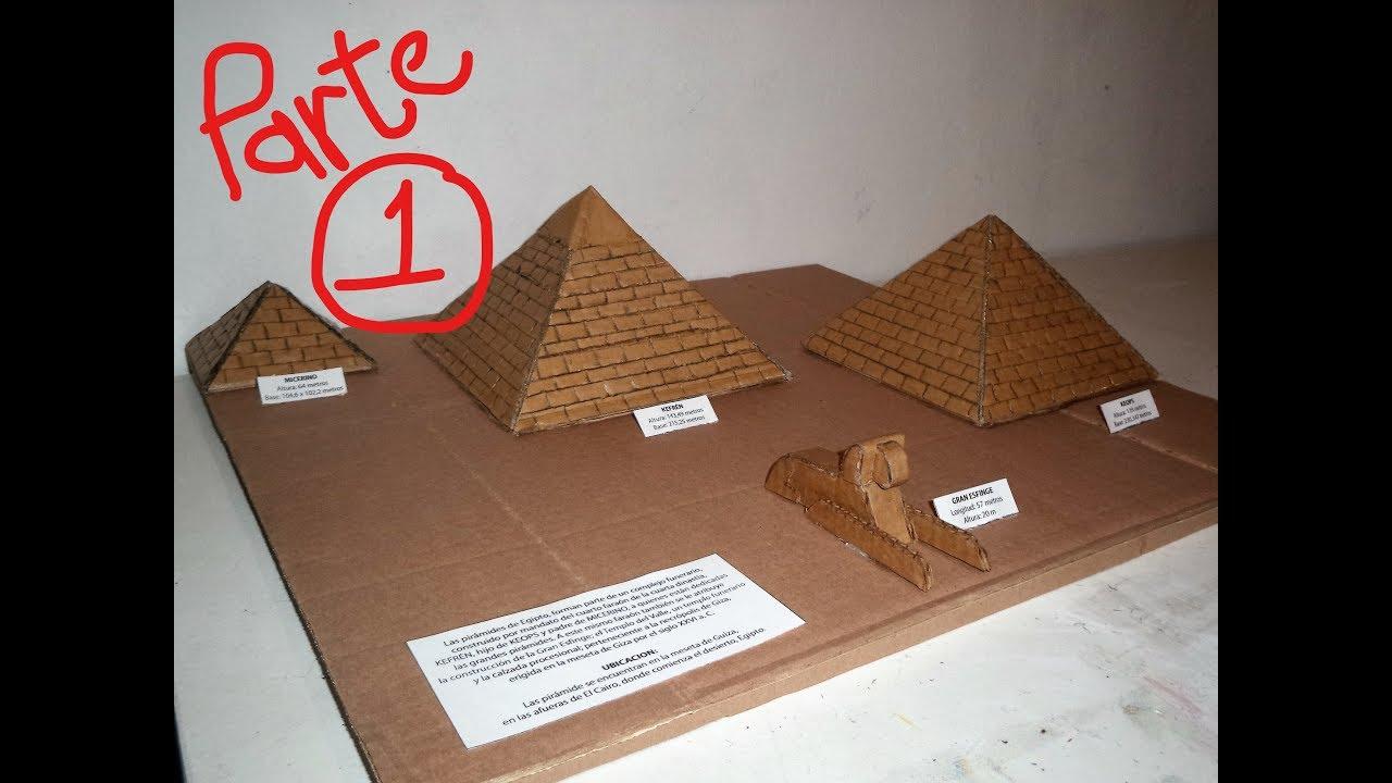 Piramides de egipto 1 maqueta youtube - Marqueteria para ninos ...