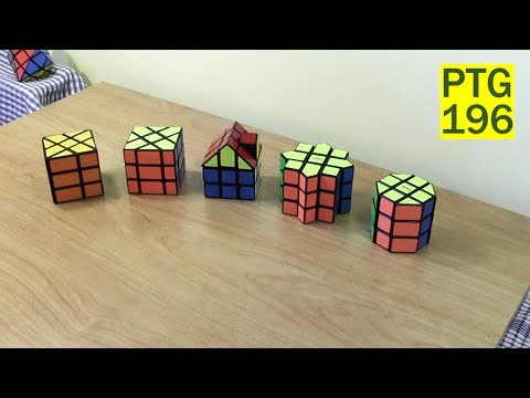 Unbox: 3x3 Shapemods Windmill Cube, Fisher Cube, Star Cube, Barrel Cube, House Cube III