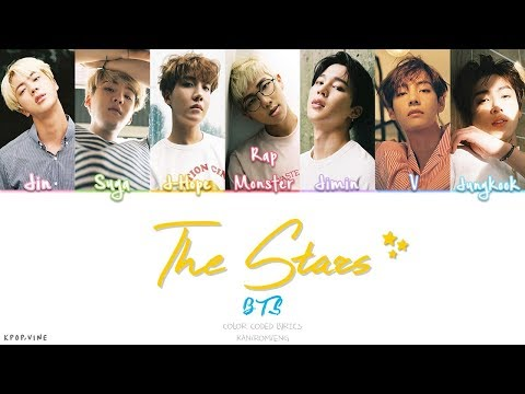 BTS (防弾少年団) - THE STARS (Color Coded Kan|Rom|Eng Lyrics)