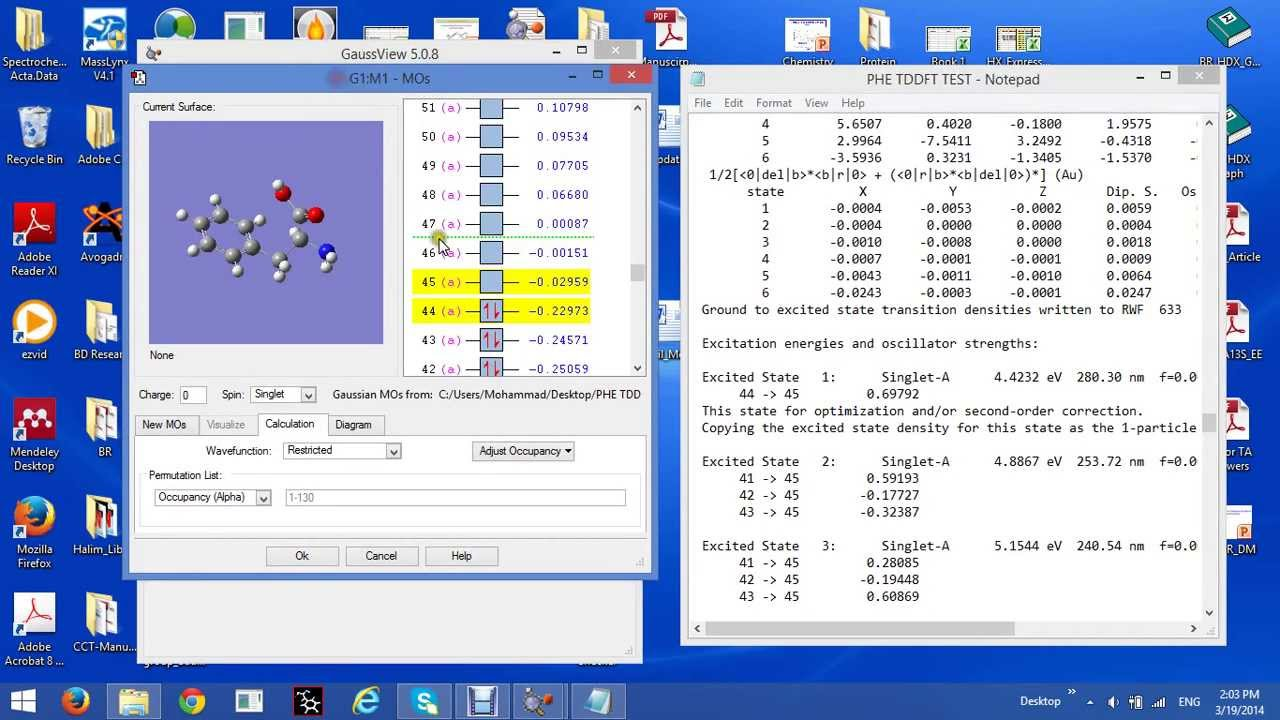 Gaussian Lecture: TD DFT 2