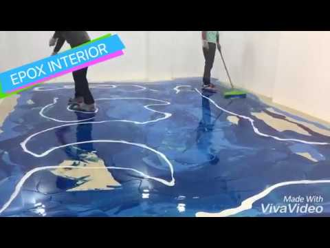 DIY Metallic Epoxy Floor Application (Gold Glitter) from YouTube · Duration:  19 minutes 10 seconds