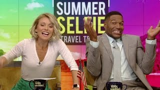 Michael Strahan Accidentally Gives Away a Trip