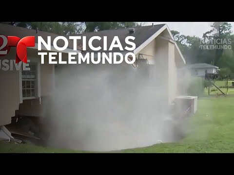 Agujero se traga una casa en Florida | Noticias | Noticias Telemundo