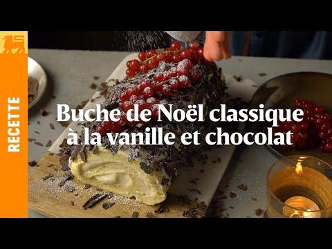 Bûche de Noël au chocolat et a la vanille