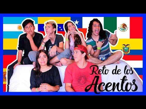 RETO DE LOS ACENTOS ft. Felipe, Smith, Vivi, Stiven, Raas | Zinahyd