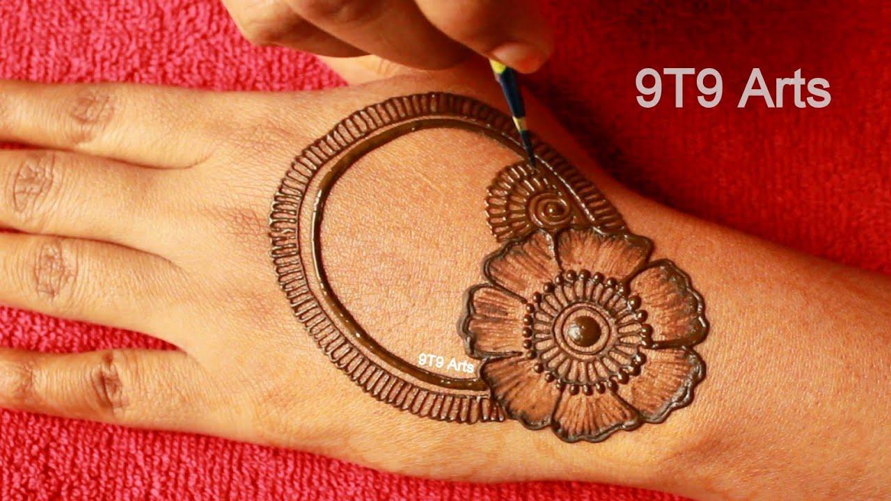 *EASY* Karva Chauth Mehndi Design for Back Hand/FESTIVAL Special Mehendi Designs/DIY Mehndi Tutorial