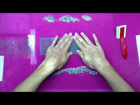 How To Make A Rhinestone Car Decal Design With Sticky Flock Template
