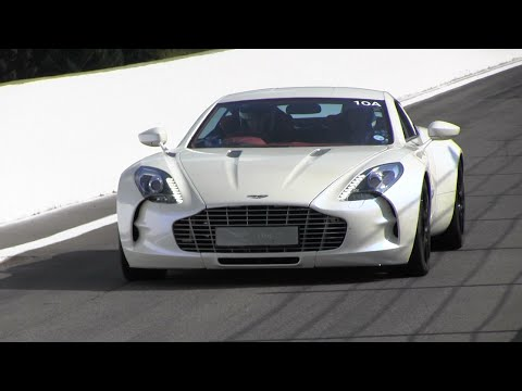 Aston Martin ONE-77 Loud Track Sounds! 5 Of Them!!