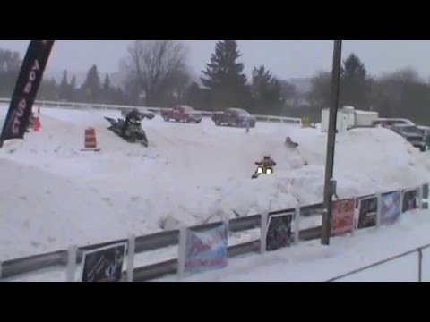 MXR Snowmobile Races!! Alpena County Fair Grounds!! 2014!! PT1