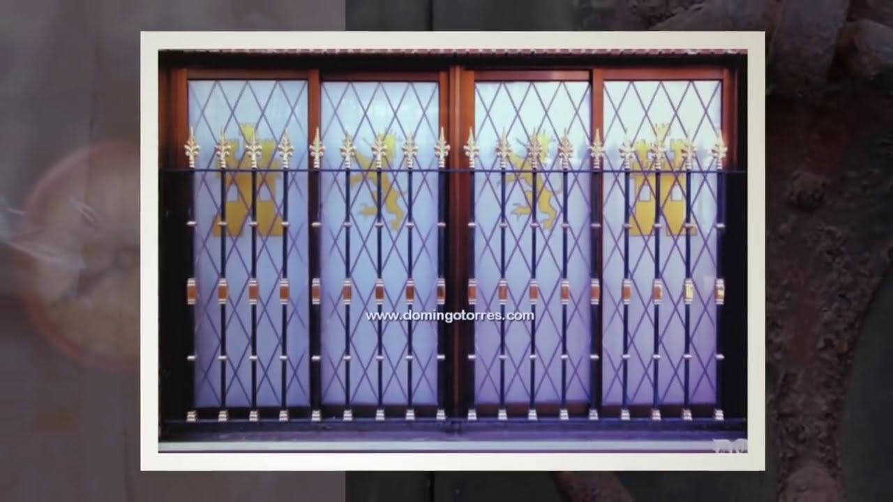 Ejemplos de rejas para ventanas de forja, fundición, latón... - YouTube
