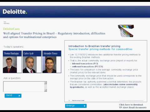 Well aligned. Transfer Pricing in Brazil -- legal basics, challenges and opportunities