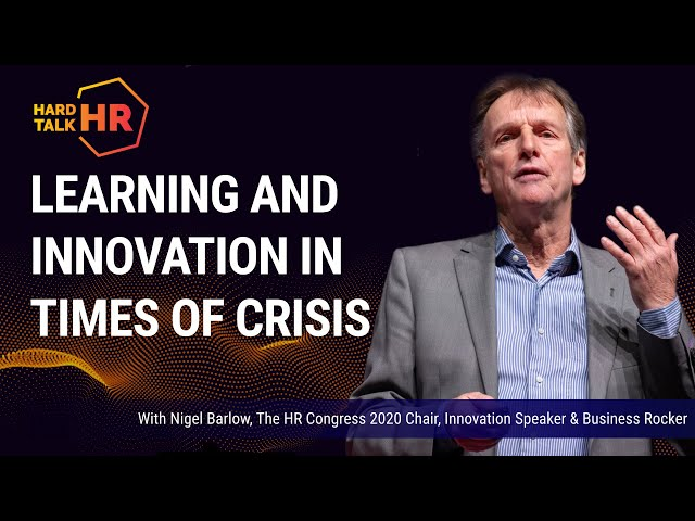 Learning and Innovation in Times of Crisis   Nigel Barlow
