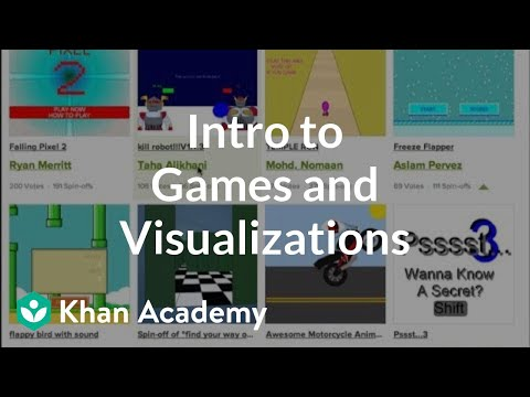 Intro to Games and Visualizations | Computer programming | Khan Academy