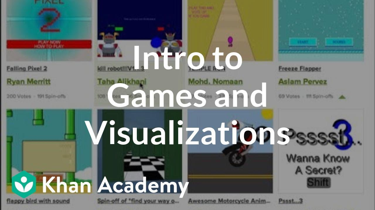 Khan Academy Intro To Games And Visualizations Video Khan Academy