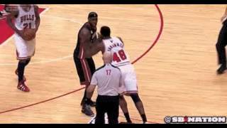 Nazr Mohammed (Hero) Shoves LeBron James