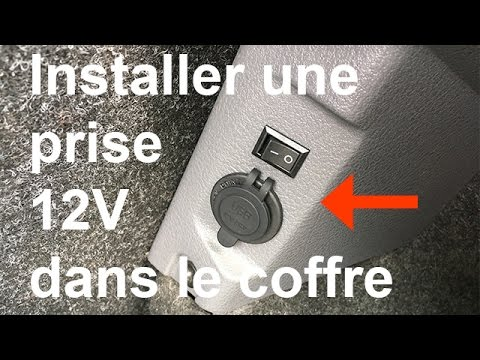 installer une prise 12v dans le coffre renault clio 2 youtube. Black Bedroom Furniture Sets. Home Design Ideas