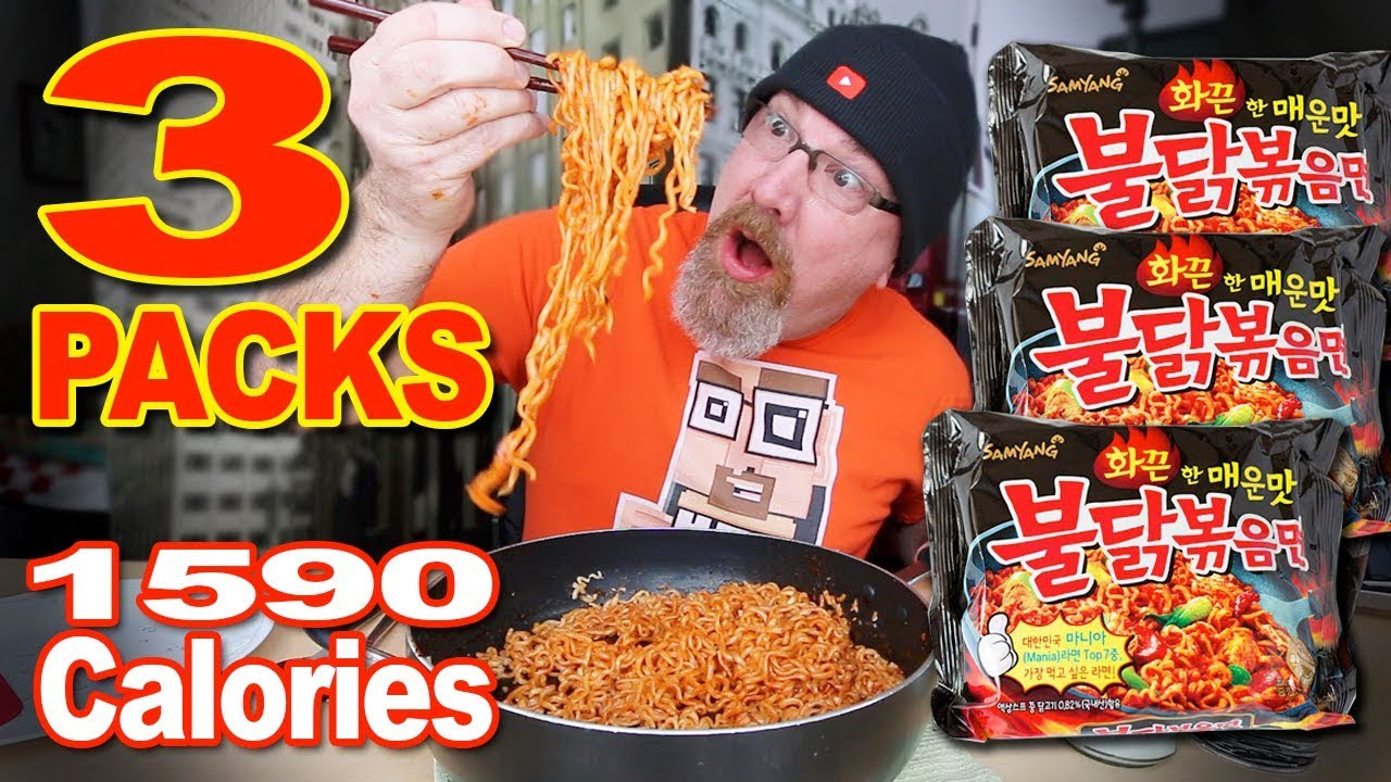 ???? EXTREME SPICY NOODLE CHALLENGE X3 PACKS ???? MUKBANG 먹방
