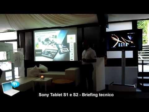 Tablet Sony S2 e S1 - Briefing tecnico