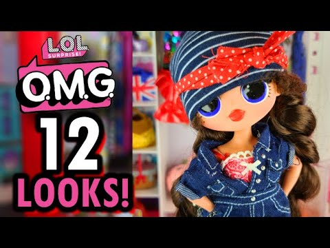 12 LOL Surprise OMG Dollies! DIY LOL OMG Fashions!