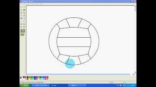 How to draw a volleyball on paint