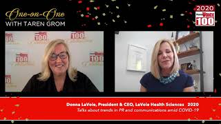 Donna LaVoie, LaVoie Health Sciences – 2020 PharmaVOICE 100 Celebration