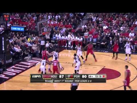 Houston Rockets vs Portland Trail Blazers Game 3   April 25, 2014   NBA Playoffs 2014