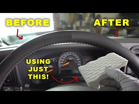Restore Your Old Shiny Leather Steering Wheel Like New Again!