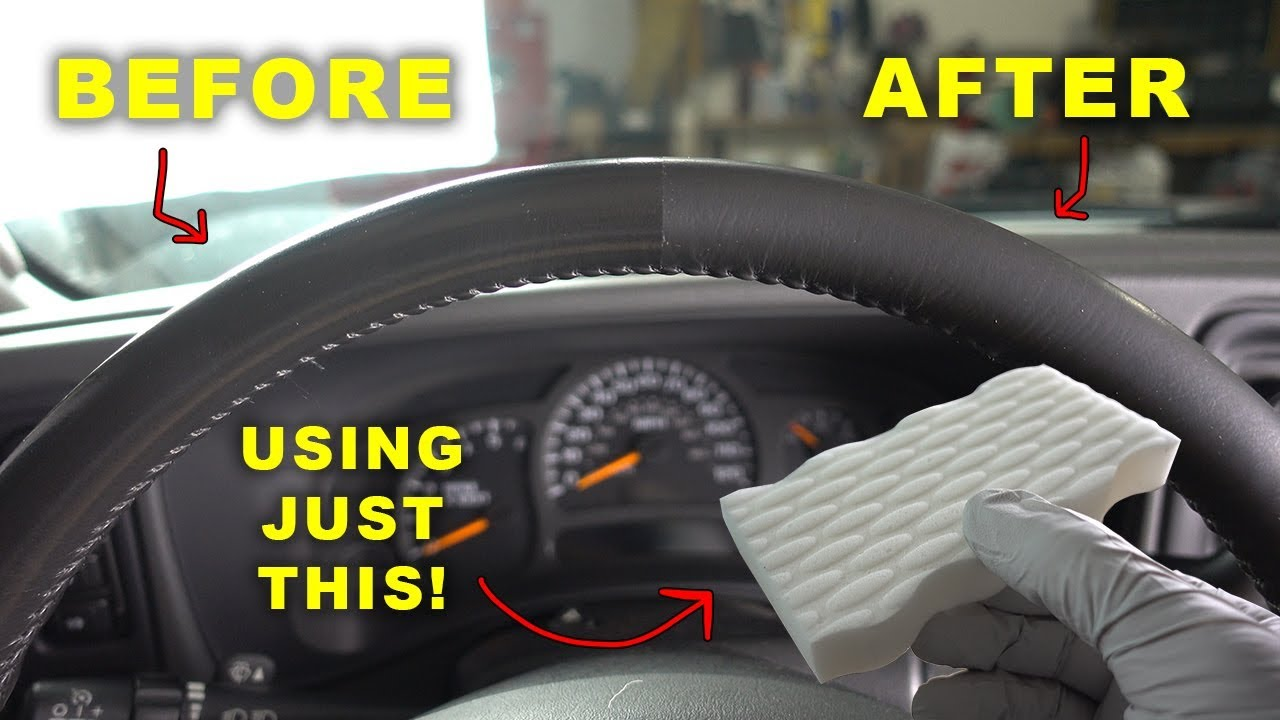 Restore Your Old Shiny Leather Steering Wheel Like New Again Youtube