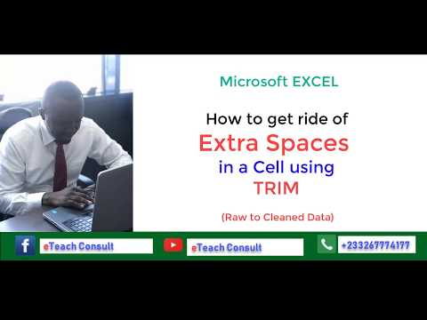 How to use the Excel Function TRIM to Clean Data