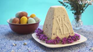Творожная пасха с миндалем и вишней