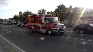 Orange County Fire Rescue Division Rescue 53 Spare Emergency Transporting