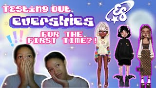 playing EVERSKIES for the first time !! ( new online game !? )