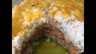 Горбуша в духовке, в  рисовой шубе! Вкуснейшая, сочная, аппетитная!!!