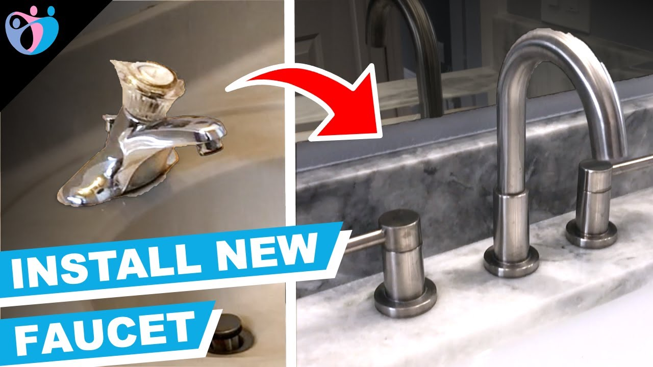 how to install a new sink faucet 3 piece jacuzzi duncan valve