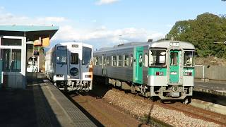 2018年01月10日 阿佐海岸鉄道 海部駅を発車するASA-301