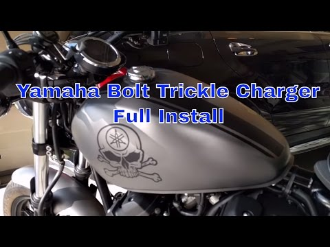 Yamaha Bolt Full Battery Trickle Charger Installation Step by Step