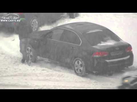 Видео: Снегопад в Тюмени  18 октября 2014 года