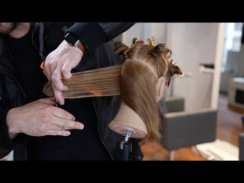 Seamless Layered Haircut Tutorial - Classic 90 Degree Haircut With Modern Finish | MATT BECK VLOG 38