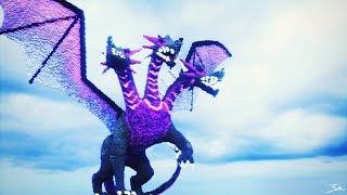 3-Headed Dragon Build | Minecraft Timelapse | Practicing Organics