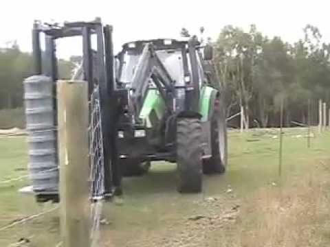 Gff2 Hydraulic Fencing Machine Youtube