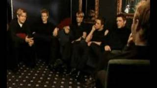 Ronan keating interviewing Westlife