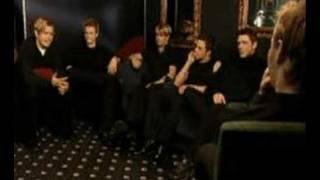 Ronan keating interviewing Westlife