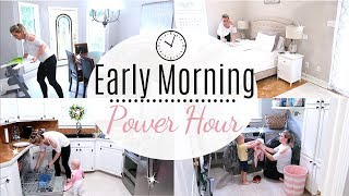 POWER HOUR | MORNING CLEANING ROUTINE | Amanda Sandefur