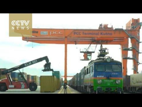 Direct cargo train running between Chengdu & Lodz