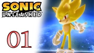 Sonic Unleashed #01 Ovo Destruidor e o Lobouriço - Ps2/Ps3-Xbox360 - Gameplay
