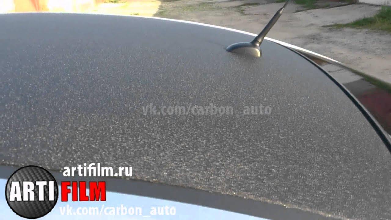 Глянцевая чёрная плёнка на крышу Mercedes - YouTube