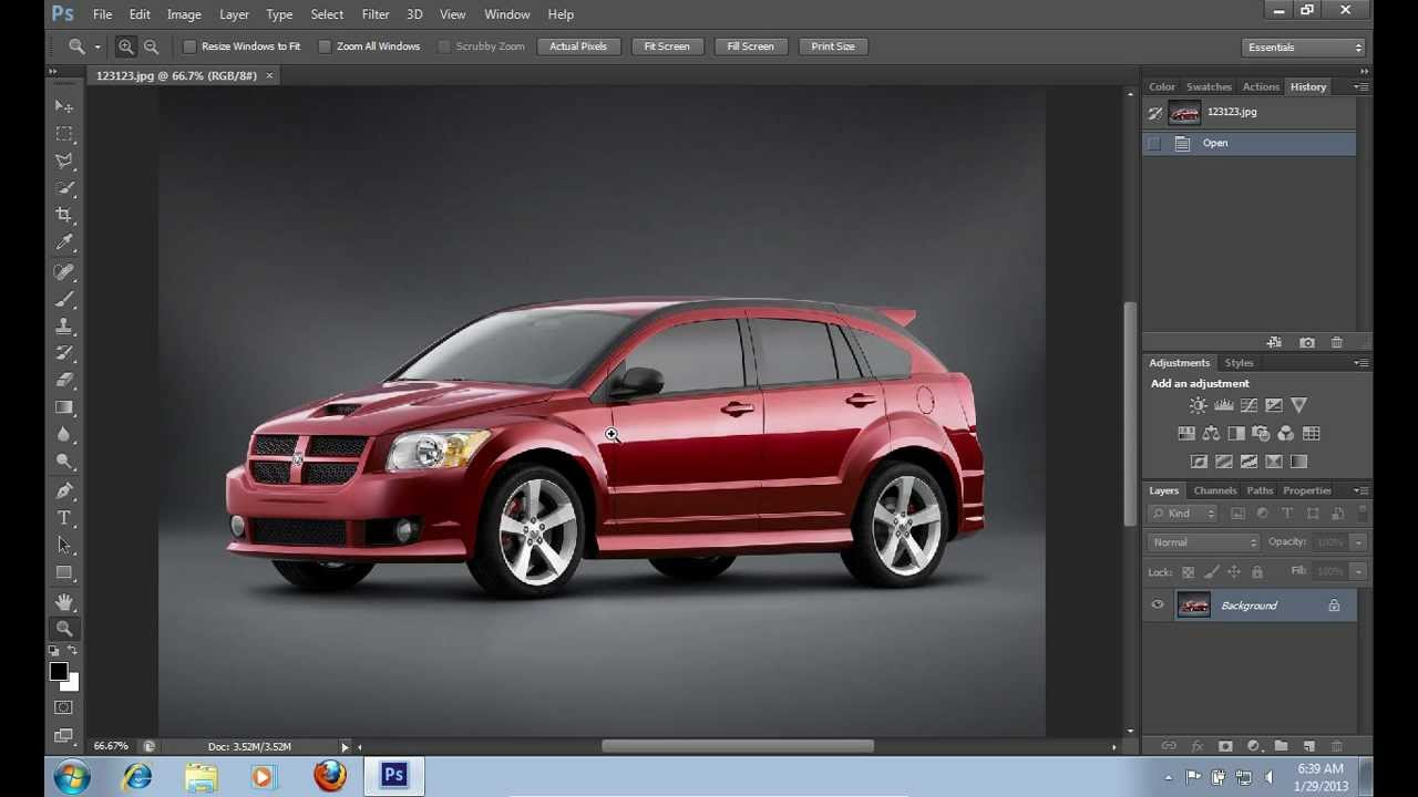How To Make Your Car Lower In Photoshop Cs6 Youtube