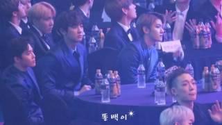 Download lagu 170119_서울가요대상 exo 백현 수호 찬열 -( 불장난, 붐바야 )reaction