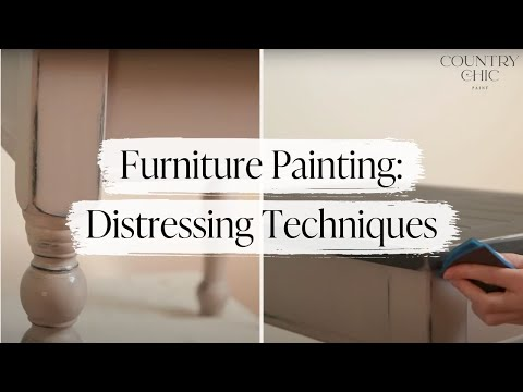 Distressing Furniture Techniques - How To Shabby Chic - Part