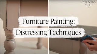 Distressing Furniture Techniques - How To Shabby Chic - Part 5 Furniture Painting Course